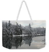 Calm And Frosty Weekender Tote Bag