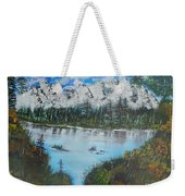 Calm Lake Weekender Tote Bag