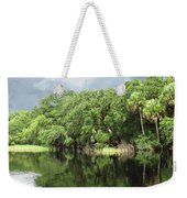 Calm River Reflections Weekender Tote Bag
