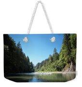 Calm Sandy River In Sandy, Oregon Weekender Tote Bag