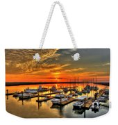 Calm Waters Bull River Marina Tybee Island Savannah Georgia Art Weekender Tote Bag