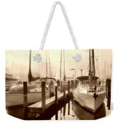 Calmly Docked Weekender Tote Bag