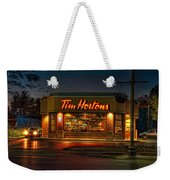 Calories And Caffene Weekender Tote Bag