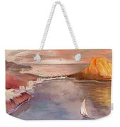 Calpe At Sunset Weekender Tote Bag by Miki De Goodaboom