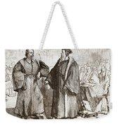 Calvin And Servetus Before The Council Of Geneva Weekender Tote Bag