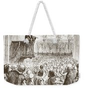 Calvin Preaching His Farewell Sermon In Expectation Of Banishment Weekender Tote Bag