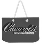 Camaro Logo In Black And White Weekender Tote Bag