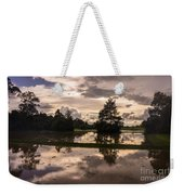 Cambodian Countryside Rice Fields Reflection Weekender Tote Bag