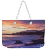 Cambria Coastline With Purple Sunset Colors Weekender Tote Bag