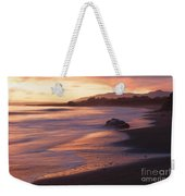 Cambria Coastline With Shimmering Sunset Color Weekender Tote Bag