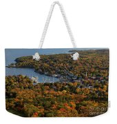 Camden Harbor In The Fall Weekender Tote Bag