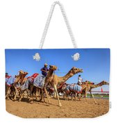 Camel Racing In Dubai Weekender Tote Bag