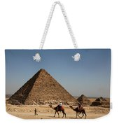 Camel Ride At The Pyramids Weekender Tote Bag