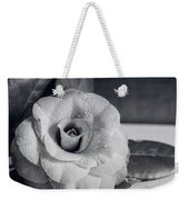 Camellia Back And White Weekender Tote Bag