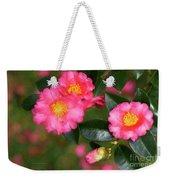 Camellia Pink Weekender Tote Bag
