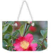 Camellia Sasanqua Yuletide Weekender Tote Bag