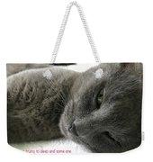 Resting Face Weekender Tote Bag by Debbie Cundy