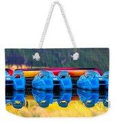 Cameron Lake Paddle Boats Weekender Tote Bag