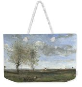 Camille Corot   A Wagon In The Plains Of Artois Weekender Tote Bag