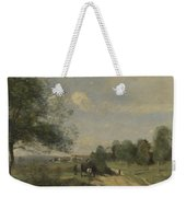 Camille Corot   The Wagon Souvenir Of Saintry Weekender Tote Bag