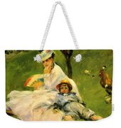 Camille Monet And Her Son Jean In The Garden At Argenteuil 1874 Weekender Tote Bag