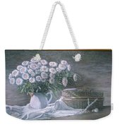 Camomile In The Pot And Busket With Pearls  Weekender Tote Bag
