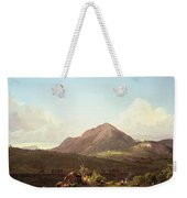 Camp Fire In The Maine Wilderness Weekender Tote Bag by Frederic Edwin Church