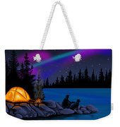 Camping With Dog Weekender Tote Bag