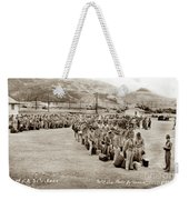 Camp San Luis Obispo Army Base 40th Division Photo 143rd Field Artillery 1941 Weekender Tote Bag