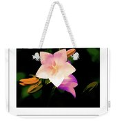 Campanula In Macro 3 Poster Weekender Tote Bag
