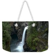 Campbell River Rain Forest Falls Weekender Tote Bag