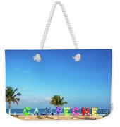 Campeche Sign And Sea Weekender Tote Bag