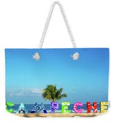 Campeche Sign And Sea View Weekender Tote Bag