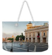 Campidoglio Square In Rome Weekender Tote Bag