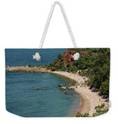 Camping And Swimming Weekender Tote Bag