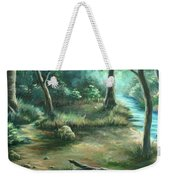 Camping At Figueroa Mountains Weekender Tote Bag