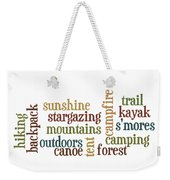 Camping Subway Art Weekender Tote Bag