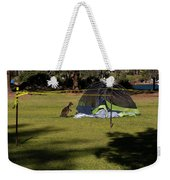 Camping With Swamp Wallaby Weekender Tote Bag