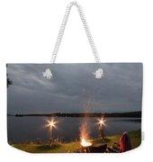 Campsite Lakeside Weekender Tote Bag
