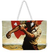 Canada - Canadian Pacific Railway - Flag - Retro Travel Poster - Vintage Poster Weekender Tote Bag