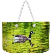 Canada Goose Swimming In A Pond Weekender Tote Bag