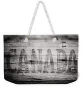 Canada In Black And White Weekender Tote Bag