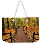 Canadian Autumnal Walkway Weekender Tote Bag