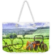 Canadian Farmland With Tractor Weekender Tote Bag