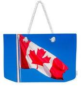 Canadian Flag Weekender Tote Bag