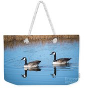 Canadian Geese Couple Weekender Tote Bag