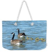 Canadian Geese Family Vacation Weekender Tote Bag