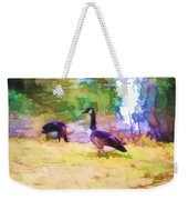 Canadian Geese In The Park 3 Weekender Tote Bag