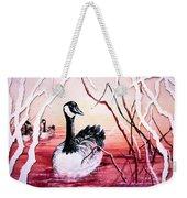 Canadian Geese Sunset Weekender Tote Bag