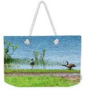 Canadian Geese - Wichita Mountains - Oklahoma Weekender Tote Bag